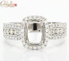 5x7mm Cushion Cut 18k White Gold 0.72ct Full Cut Diamond Wedding Ring