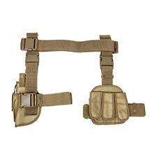 TAN Leg Holster + 3 Pocket Mag Pouch + Belt For FN FNX FNS HK USP P2000 VP40 VP9