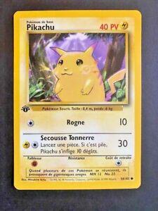 Pokemon Card - 1st Edition Pikachu 58/102 French Base Set Yellow Cheek ***NM***