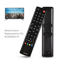 Universal Black Replacement TV Remote Control for TCL RC3000E02 LED LCD Smart TV