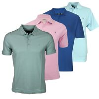 Farah Men's Casual Classic Pique Plain Polo Shirt Short Sleeve Retro Tee Tops