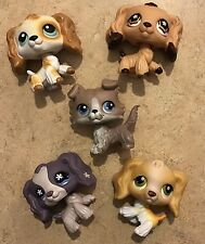 LITTLEST PET SHOP RARE FOUR COCKER SPANIEL And ONE COLLIE Dog LOT