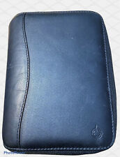 Franklin Covey Spacemaker Black Leather 7 Ring Zipper Plannerbinder Withextras