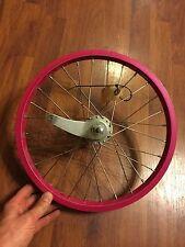 "Diamondback 16"" Rear Bicycle Wheel -  - Coaster Brake - 28 Spoke - Fushcia"