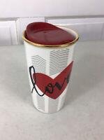 STARBUCKS Love Heart Travel Mug Ceramic 10 oz