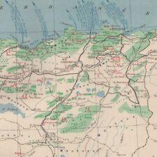 Algérie économique - Afrique du Nord -- Carte ancienne 1938