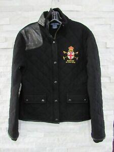 Ralph Lauren Blue Label Polo Black Cashmere Quilted Winter Cup Jacket Coat XL