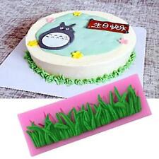 Grass Silicone Mould Fondant Cake Decor Chocolate Sugarcraft Lace Mold Mat LC