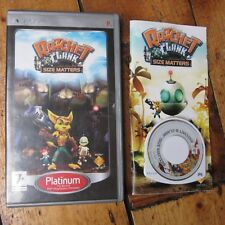 Ratchet & Clank Size Matters Platinum Edition Sony PSP Game Complete Free UK P+P