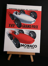 MONACO 1959 CANVAS PRINT STRETCHED AND FRAMED