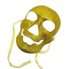 ORO teschio maschera Pirati dei Caraibi morti HALLOWEEN FANCY DRESS MASCHERA