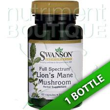 Lion's Mane Mushroom 500 mg - 60 Caps (Hericium erinaceus) by Swanson Premium