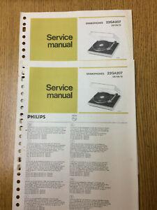 Philips 22GA207 Service Manual Vintage Gramophone