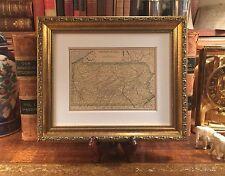 Custom Framed Original 1908 Antique Map PENNSYLVANIA History Family Genealogy