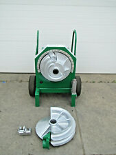Greenlee 555 Electric Pipe Conduit Bender With 12 2 Rigid Shoe Group Used