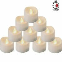 Homemory Battery Tea Lights With Timer, Auto On / Off LED Candle, Warm White