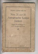 1921 CAMERA BOOKLET - Nos. 2c & 3a AUTOGRAPHIC KODAK JUNIORS