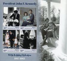 Bequia Gren of St Vincent 2017 MNH JFK John F Kennedy 100th 4v M/S I Stamps