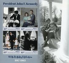 BEQUIA GREN di Saint Vincent 2017 Gomma integra, non linguellato JFK John F. Kennedy 100th 4v M/S I FRANCOBOLLI