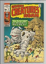 WHERE CREATURES ROAM #8 VF  WHITE PAGES BRONZE AGE MARVEL COMIC 1971