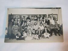 HALLOWEEN COSTUME PARTY GROUP PHOTO VINTAGE POSTCARD       T*