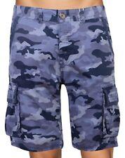 Crosshatch Hombre de Marca Pantalones Cortos Camuflaje Multi con Bolsillos