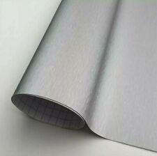 Pellicola Adesiva Alluminio Spazzolato Opaco 30x152Cm Wrapping Auto Moto Vinyl