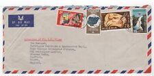 1970 NIGERIA Air Mail Cover LAGOS to STAFFORD GB