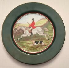 Fitz and Floyd Fox Hunt TallyHo Plate Horse Equestrian Hunter Jumper Tally Ho