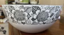 More details for finel arabia finland kaj franck scandinavian enamel large bowl vintage mcm 1970