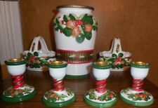 World Bazaars Inc Christmas Pine Cone vase candy dish baskets + candle holders