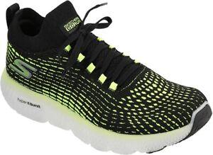 Skechers Men's Max Road 4 Running Shoe, Black/Lime, 10 D(M) US