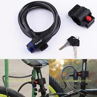 Anti Theft Device Motor Bike Cycle Bicycle Scooter Security Wire Cable Lock