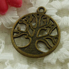 free ship 35 pieces bronze plated tree charms 27x24mm #3326