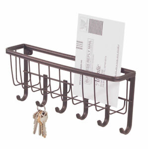 InterDesign  Small  Axis Mail Letter Holder and Key  Rack  10-3/4 in. L Metal