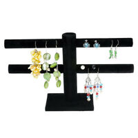 Jewelry Bracelet Earring Black Stand Display Organizer T-bar Rack Holder