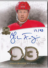 10-11 The Cup Johan Franzen /93 Auto Patch Honorable Numbers Red Wings 2010