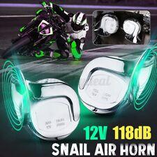 2X 110dB 12V Klang Doppel Hupe Horn Sirene Lufthorn Auto Fanfare chrome Raging