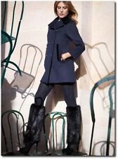 Louis Vuitton Editorial Blue Wool Coat Pre-Fall 2013 Size Medium