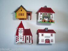 KINDER SURPRISE SET - VILLAGE BUILDINGS MODEL HOUSES - TOYS MINIATURES