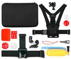 Action Camera 14-in-1 Accessories Bundle W/ Case for Nilox F-60 MM93 | RELOADED