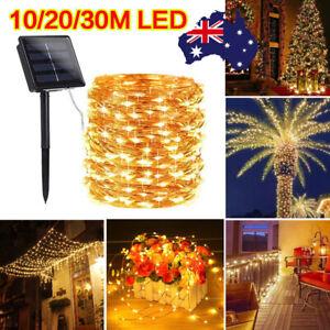 10/20/30M Warm White Waterproof Fairy String Lights Wedding Garden 100-300 LED