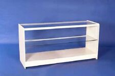 WHITE GLASS ONE SHELF GLASS DISPLAY COUNTER RETAIL SHOP FITTINGS 1800MM NEW