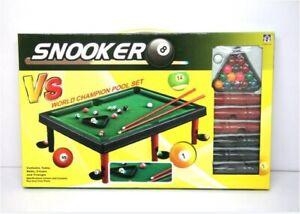 Mini Pool Table Kids Pool Snooker Billiard Cues Balls Family Game Indoor Sports