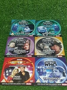 BBC TV DR DOCTOR WHO THE SUN NEWSPAPER FULL SET OF 6 X 2006 PROMO UK PAL R2 DVDS
