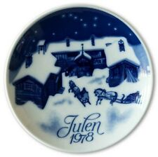 New In Box! Porsgrund 1978 Christmas Plate 7 in. Norway
