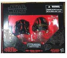 Star Wars Black Series Die-Cast Metal Helmets TIE FIGHT PILOT ELITE & POE DAMERO