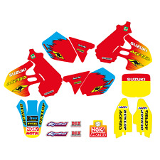 Kit Autocollant Complet Graphiques Moto Cross Team Suzuki RM 125 250 1999 2000