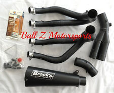 "12-16 ZX-14R ZX14R Brock's Peformance Black 14"" Alien Head 2 Full Exhaust System"