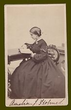 Pre-Civil War Era CDV of young Amelia Jackson Holmes,18 Yrs old, taken 1/7/1861